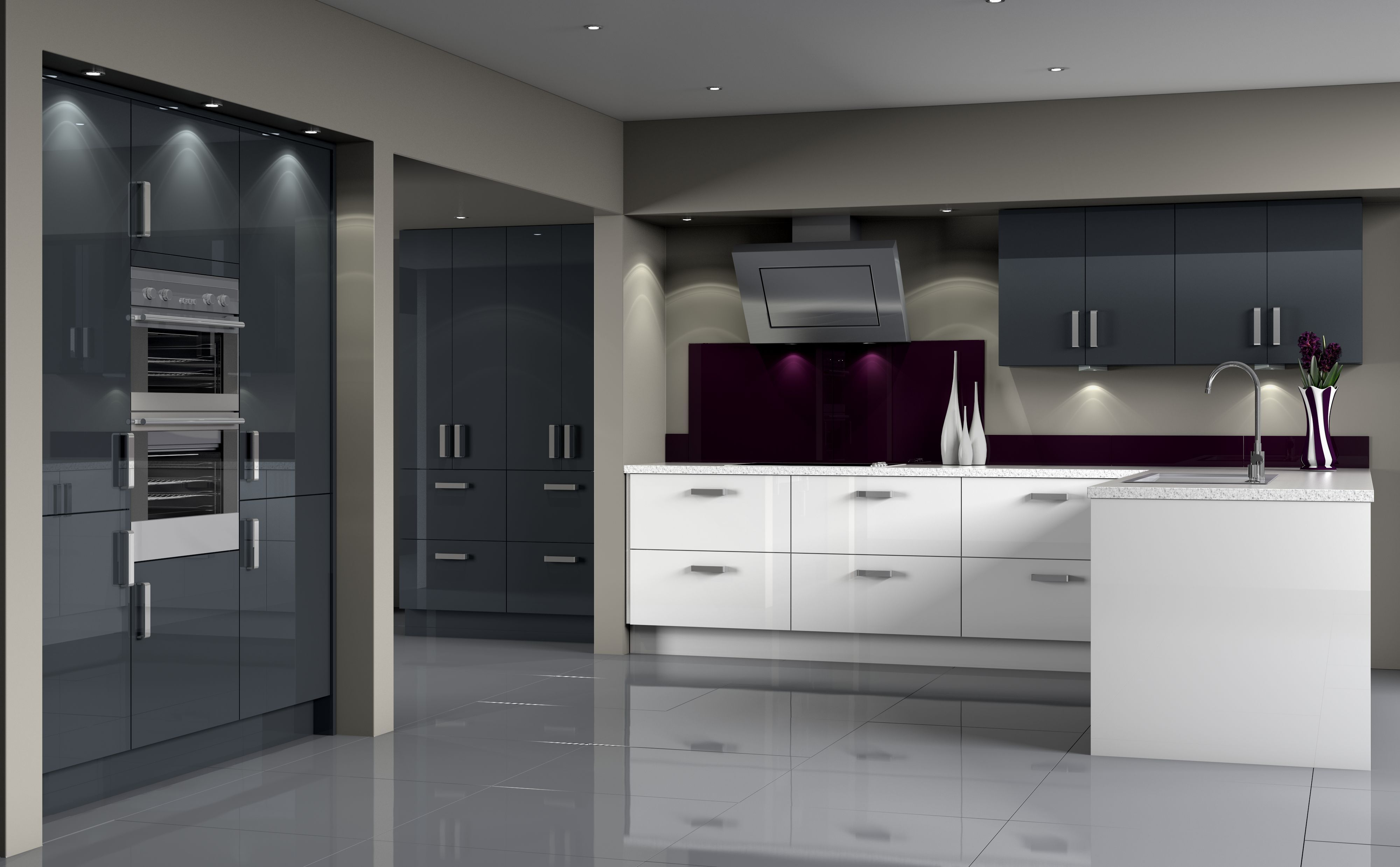 Woodbury Anthracite White S4 Jpg 4000 2476 Grey Kitchen Designs Symphony Kitchen Kitchen Fittings
