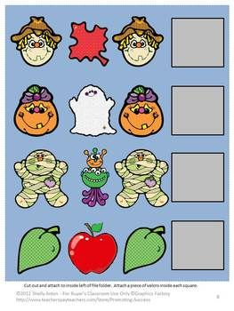 halloween file folder games independent work tasks pk k special education here are 7 - Halloween File Folder Games