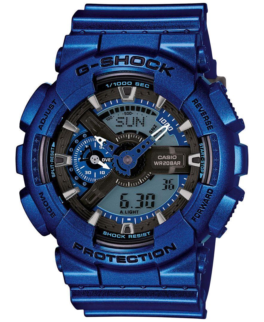Babyg menus analogdigital metallic blue bracelet watch xmm