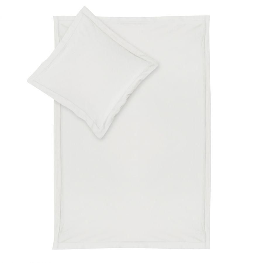 Bettwäsche Smood pure - Weiß - 135 x 200 cm + Kissen 80 x 80 cm