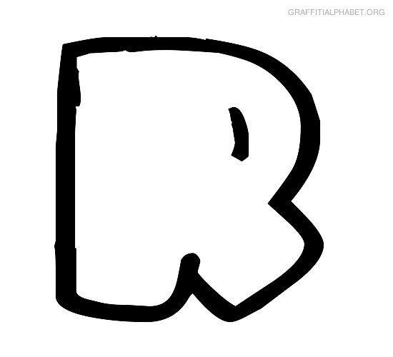 graffiti alphabet bubble r