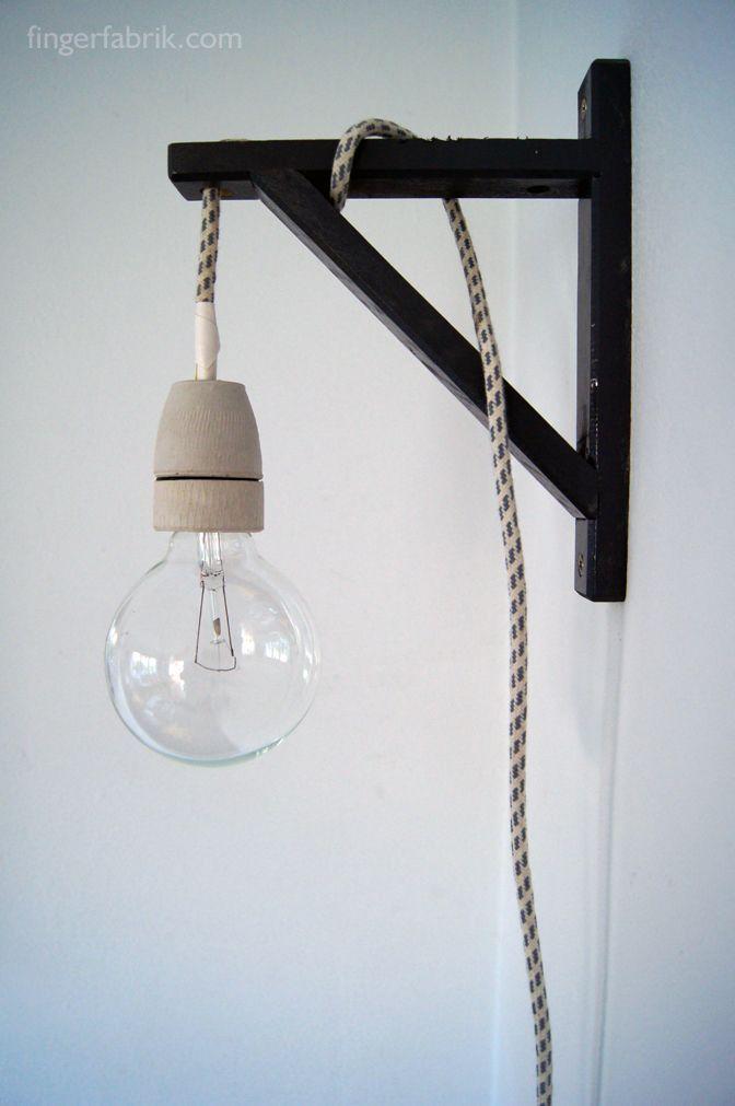 Diy Anleitung Kabellampe Bauen Diy Furniture Build A Pendant Light Via Blog Dawanda Com Lampe Selber Bauen Mobel Zum Selbermachen Zuhause Diy
