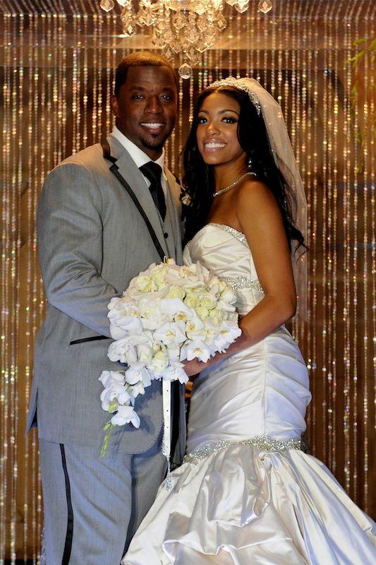 Porsha Williams Kordell Stewart Http Insideweddings Com Real Weddings Porsha Williams Kordell Stewart T Celebrity Bride Wedding Dress Pictures Bride Attire