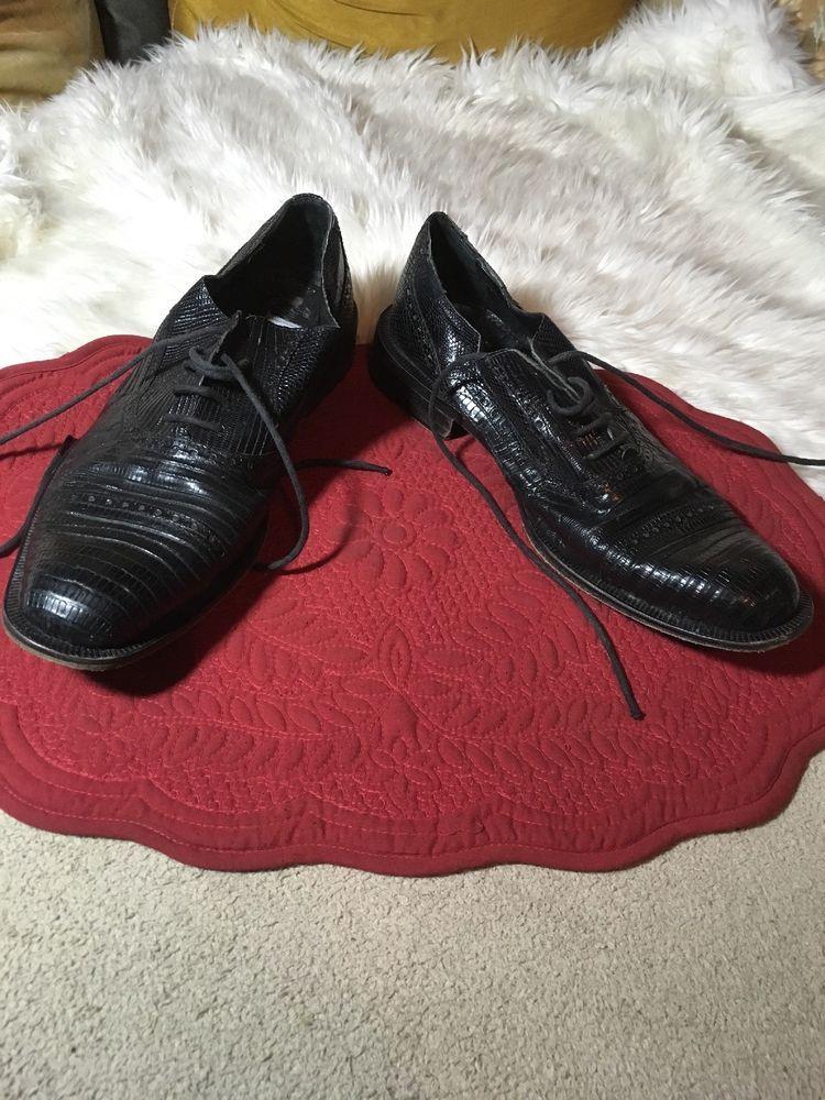 1487ef4c68f Men s Forli teju Black lizard leather Tous Dress Shoes Size 9  fashion   clothing  shoes  accessories  mensshoes  dressshoes (ebay link)