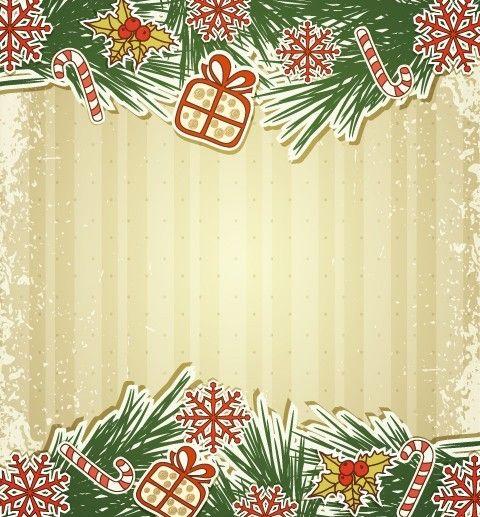 Free vintage merry christmas invitation card ornaments vector 02 vintage christmas cards vintage christmas decorative elements for merry christmas invitation stopboris Choice Image