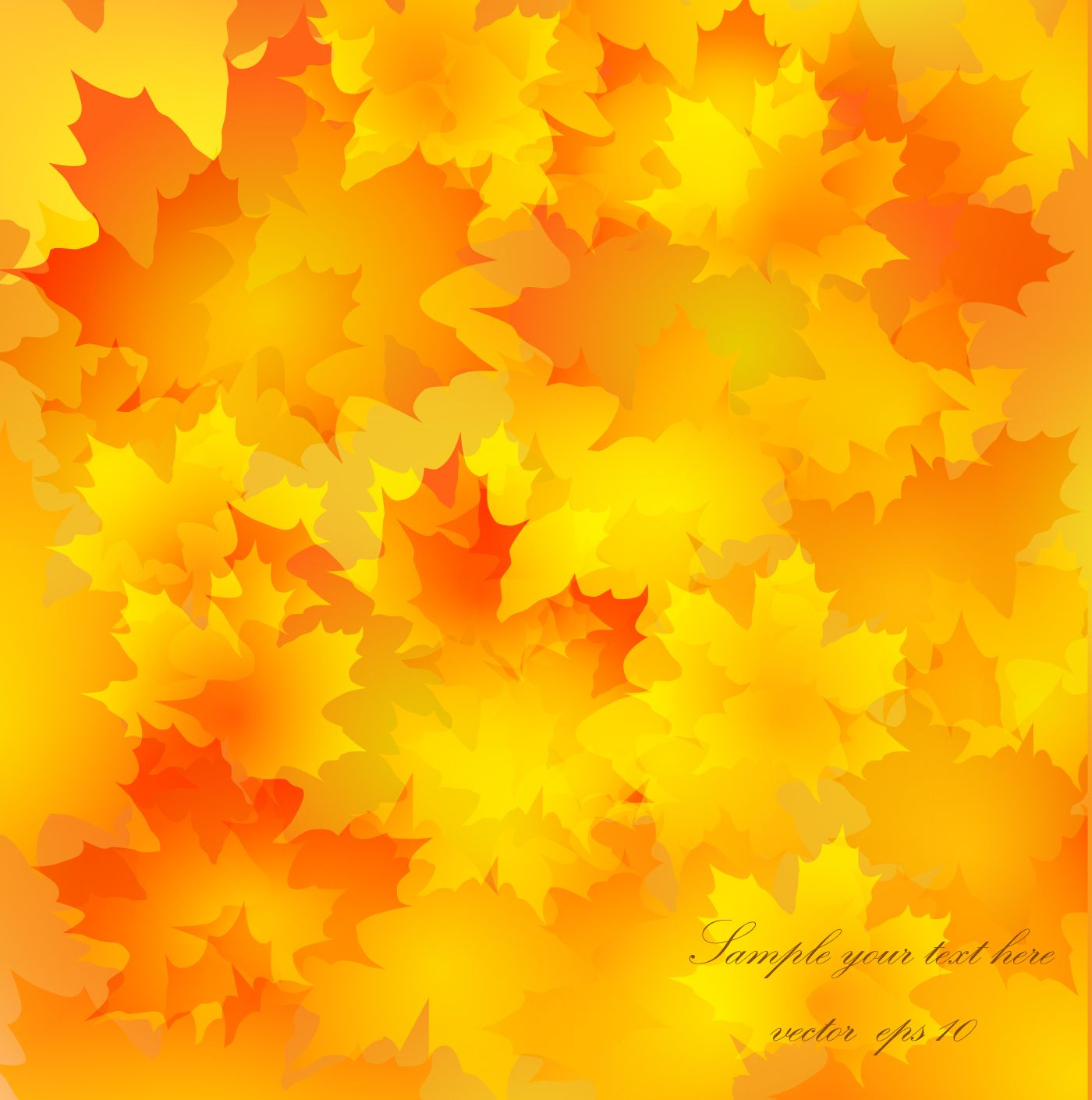 Autumn Golden yellow background vector 06 Vector