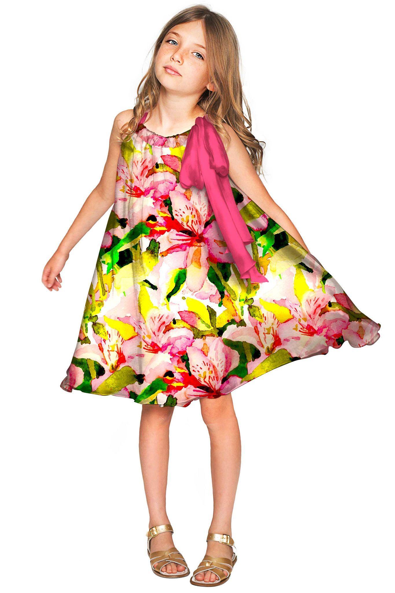 ea2f7b11e435 Havana Flash Melody Chiffon Fancy Floral Dress - Girls