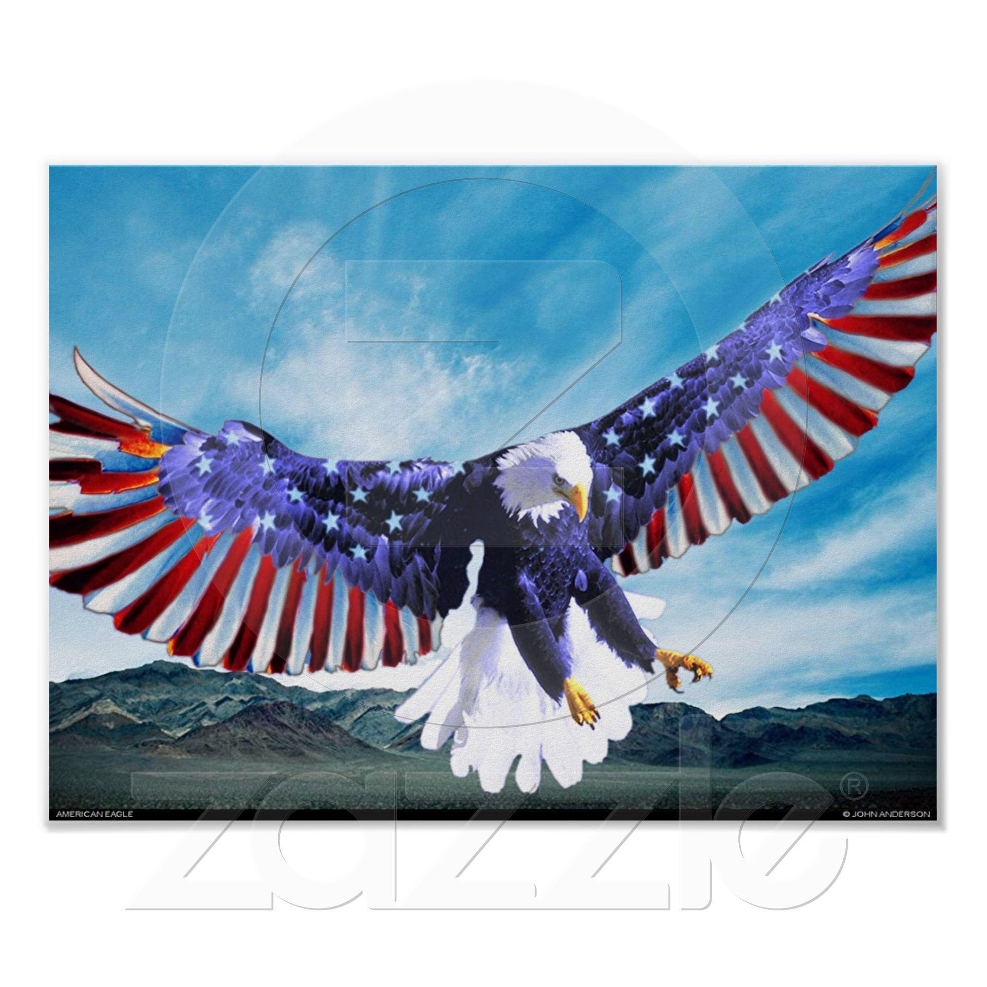 American Eagle Poster Love America Home