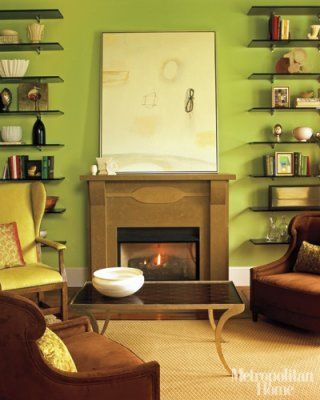 Green living room: \'Sweet Daphne\' by Benjamin Moore | Benjamin moore ...