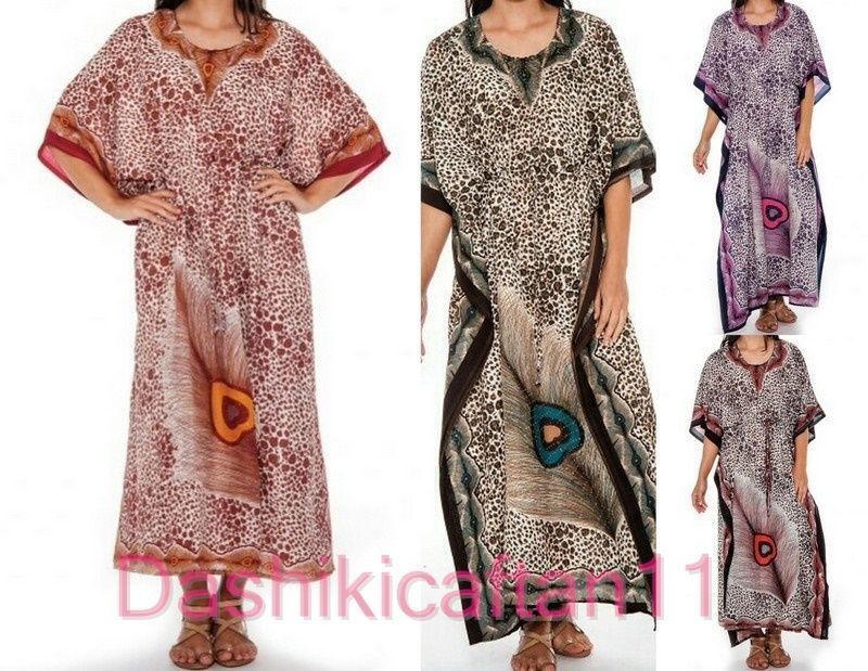 73d6782eaf Women s Caftan Dress Kaftan Dashiki Hippie Boho Maxi Gown Beach Cover Plus  size…