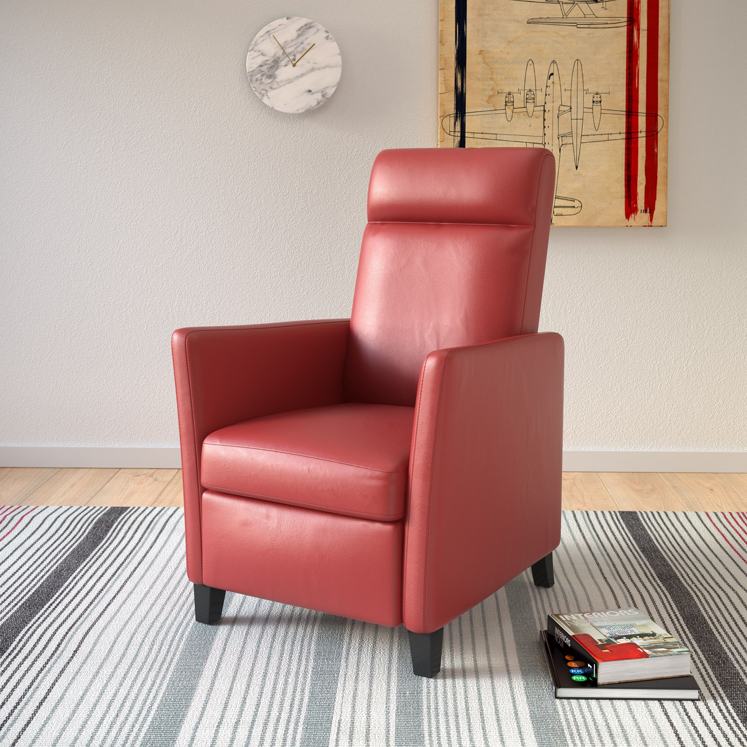 Amazing Corliving Elise Contemporary Recliner Chair Products Bralicious Painted Fabric Chair Ideas Braliciousco