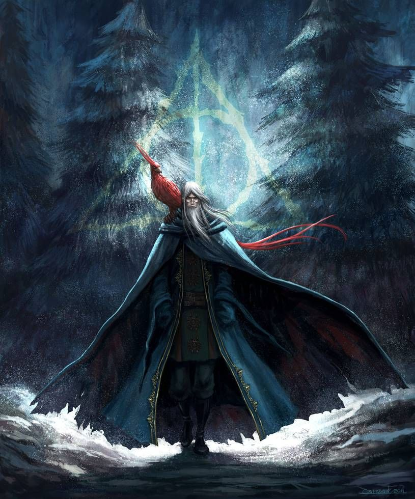 Dumbledore And Fawkes By Hueco Mundo On Deviantart