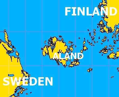 Aland Islands Map Near Finland Maps And More Maps Pinterest - Aland islands political map