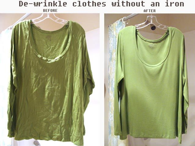 De wrinkle clothes without an iron using a spray bottle for How do wrinkle free shirts work