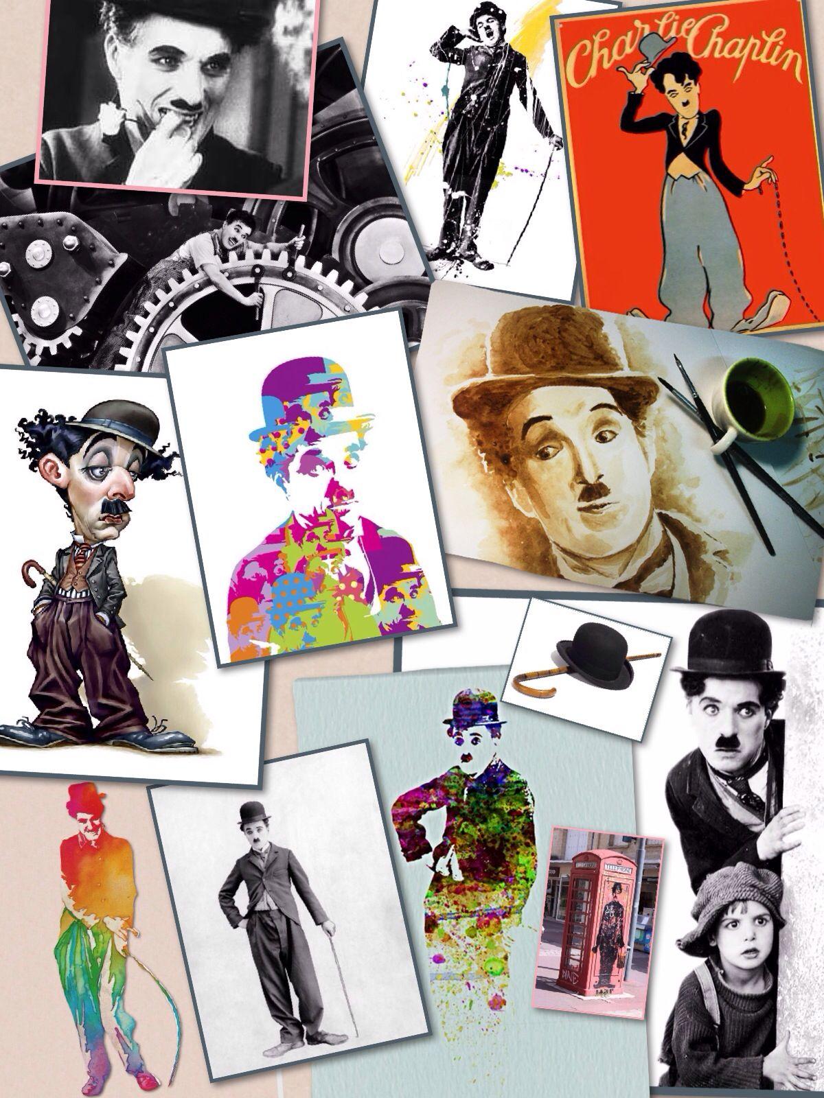 Collage Of Sir Charles Charlie Chaplin Charlie Chaplin
