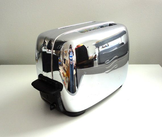 Vintage Toaster Ge General Electric Chrome Mid Century By Kimbuilt 28 00 Vintage Toaster Toaster Vintage Appliances