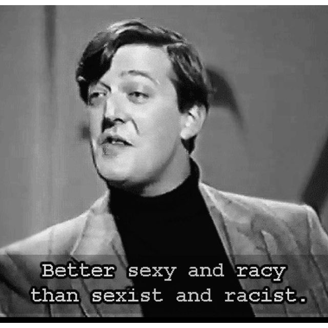 Words of wisdom from Stephen Fry.
