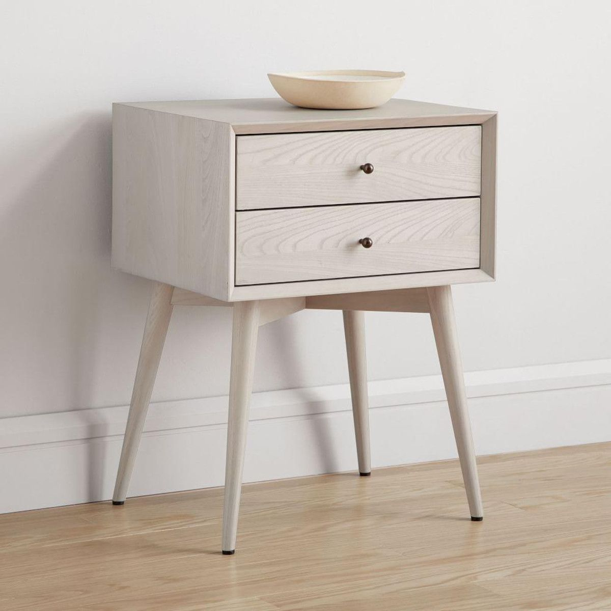 Mid Century Bedside Table Pebble In 2019 West Elm Mid Century