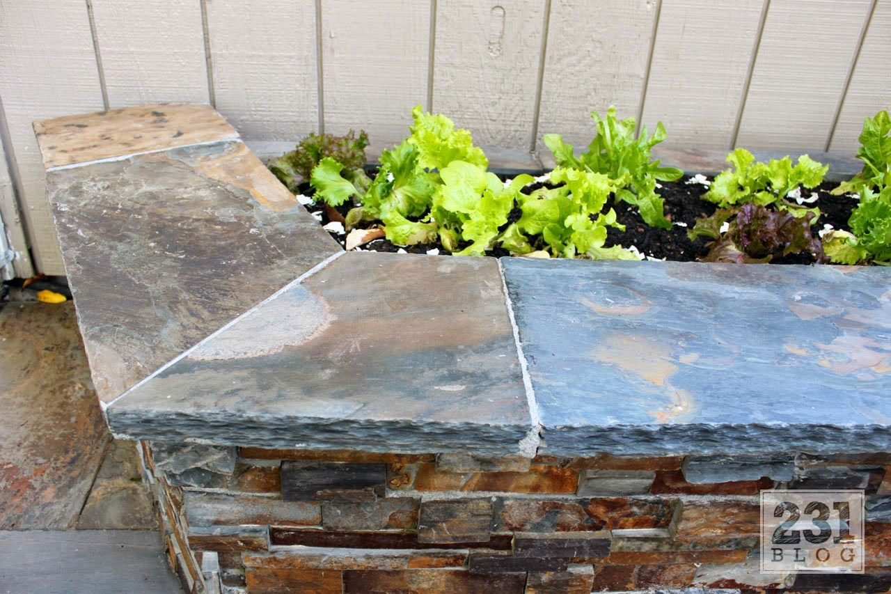 Diy Slate Ledge Stone Planter Boxes Garden Planters Planter