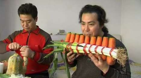 Musical instruments from vegetables orble yelena for Cuisine instrument