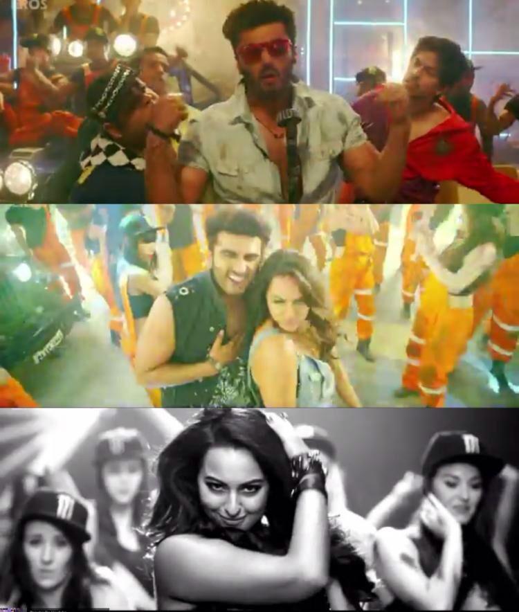 "Watch: Arjun, Sonakshi party away in Imran Khan's ""Let's celebrate""."