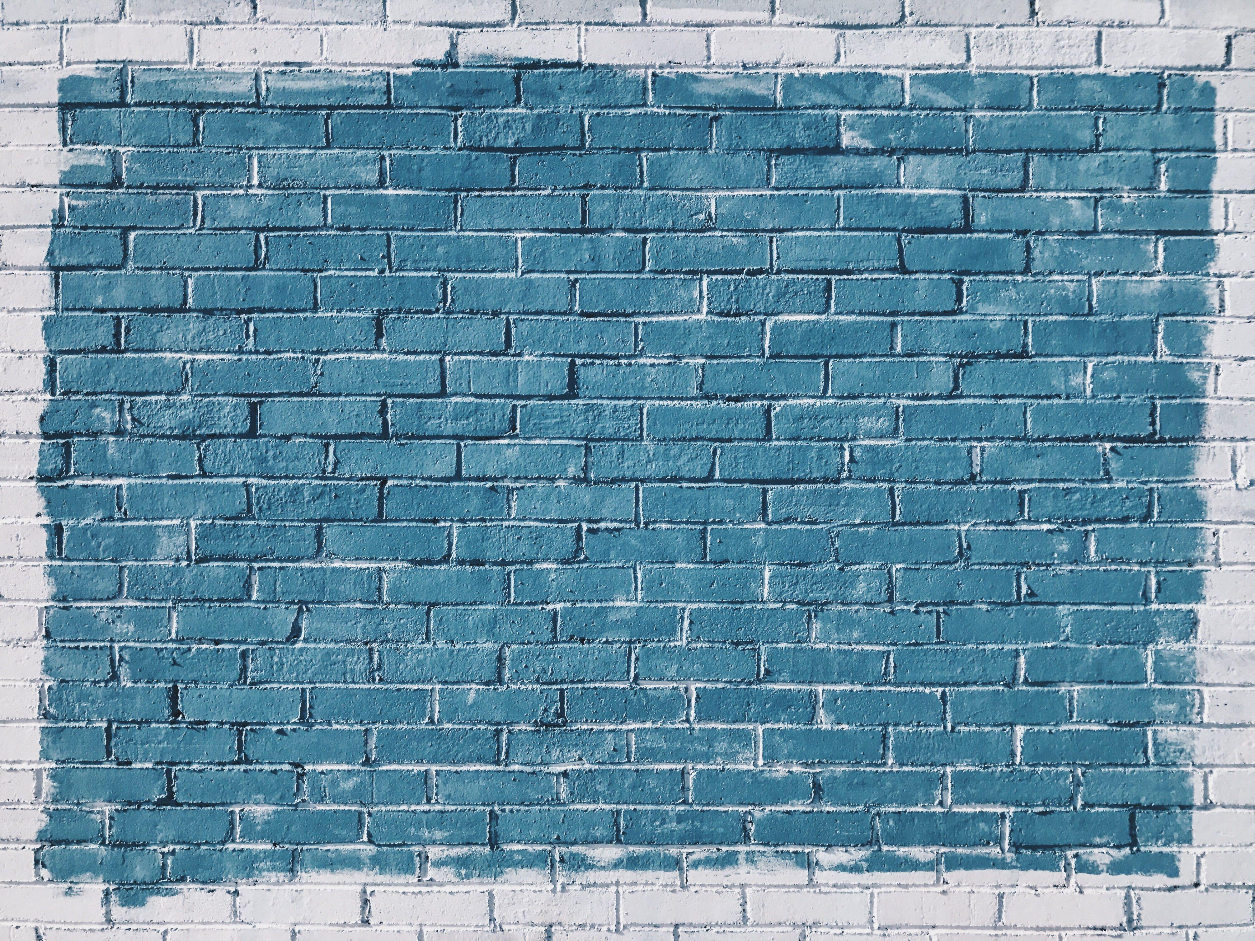 Blue And White Brick Surface Wall Bricks Paint Texture 4k Wallpaper Hdwallpaper Desktop Rick Riordan Quotes Love Book Quotes Little Women Quotes Hd wallpaper texture surface wall brick