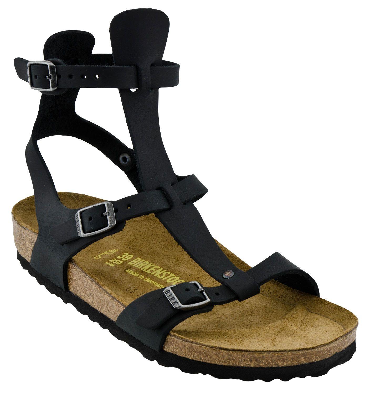 296f1d9df9d7 Womens Birkenstock Chania Gladiator Sandal (Black)