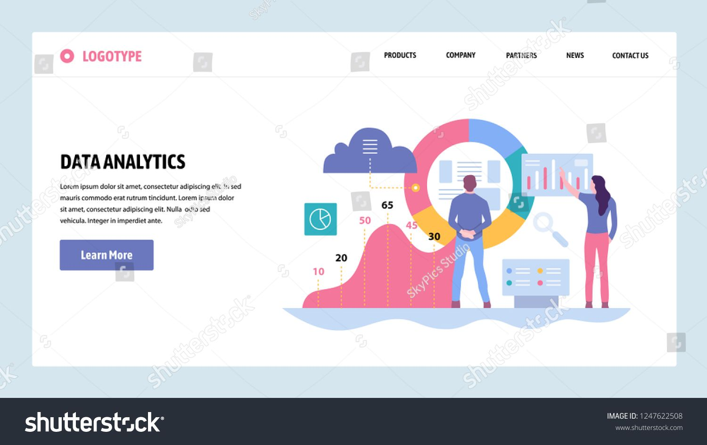 Vector Web Site Gradient Design Template Data Analytics