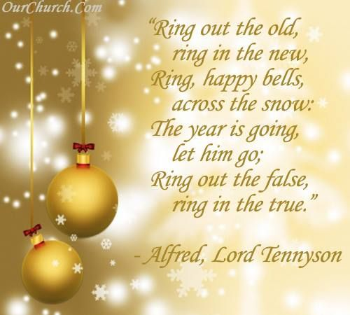 Inspirational Day Quotes: Inspirational Quote: Ring Out The Old, Ring In The New