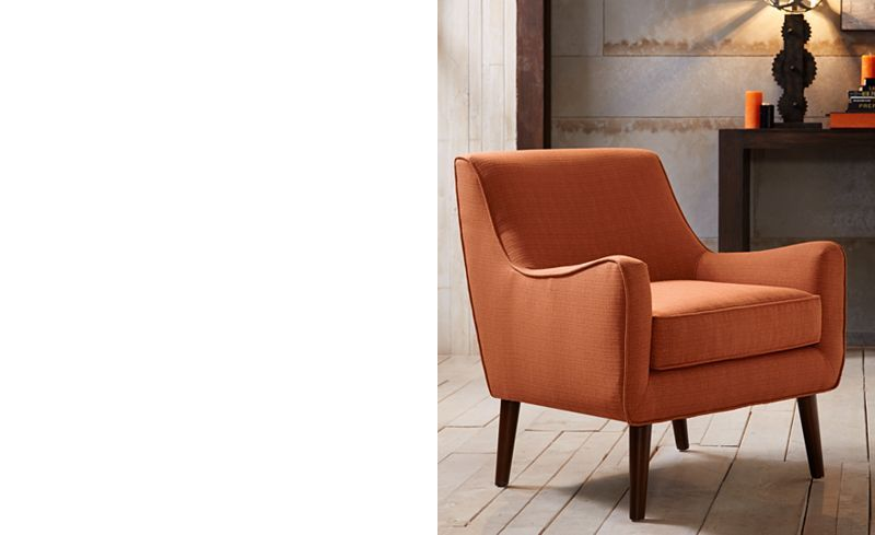 Furniture Flint Fabric Accent Chair Amp Reviews Chairs