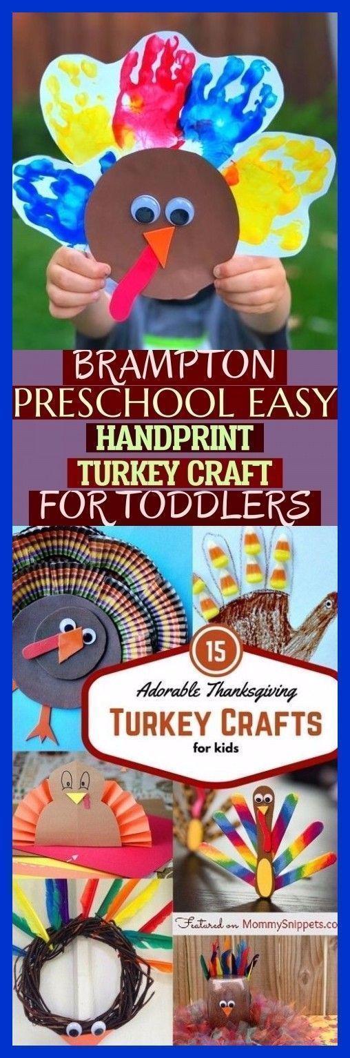 Brampton Preschool Easy Handprint Türkei Handwerk für Kleinkinder! Vorschule in Brampton ...