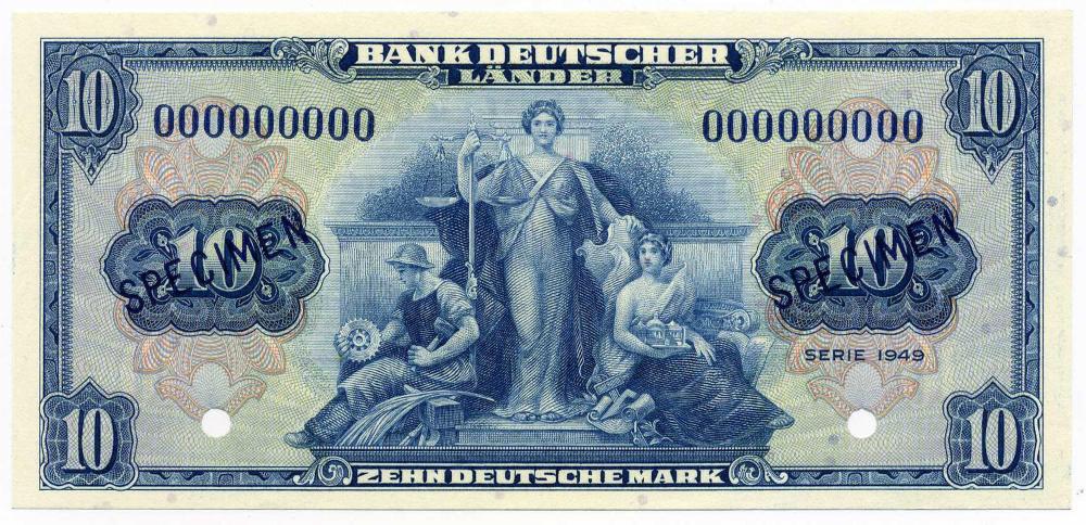 BUNDESREPUBLIK DEUTSCHLAND AB 1948, Noten der Bank