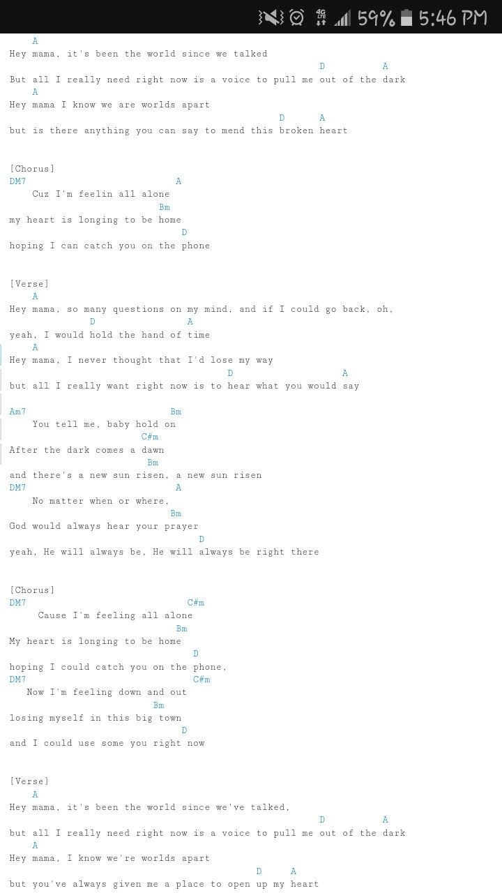 Hey Mama Guitar Chords By Hollyn Music Stuff Pinterest