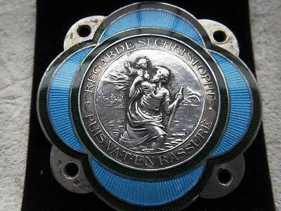 silver enamel rasumny plaque argent st christophe christopher voiture car badge badges. Black Bedroom Furniture Sets. Home Design Ideas
