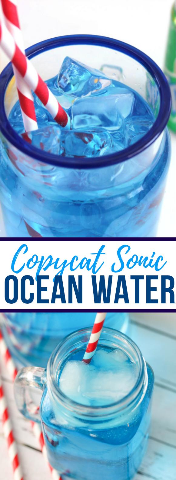 Copycat Sonic Ocean Water Drink Freshdrink Sonic Ocean Water Ocean Water Drink Fresh Drinks
