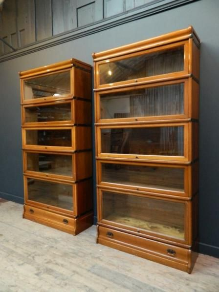 European Antiques Furniture Barrister Bookcase Bookcases For