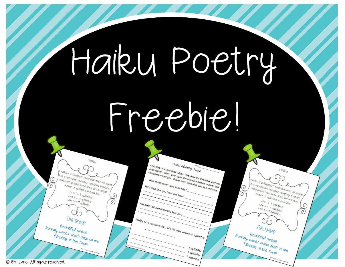 Haiku Poetry Freebie From My Poetry Unit Bundle Poetry Freebie Haiku Poems For Kids Haiku Poetry [ 936 x 1206 Pixel ]