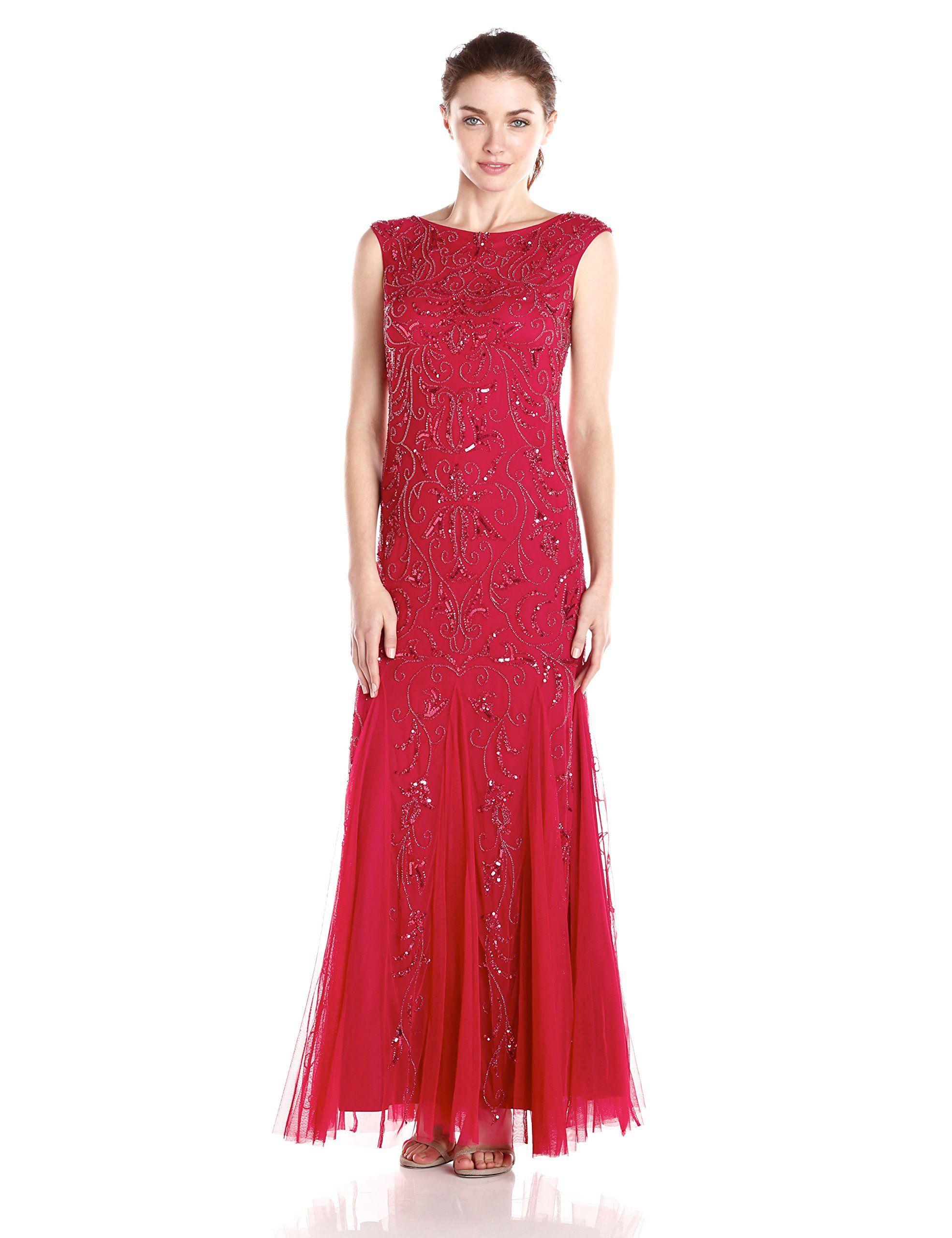 Adrianna Papell 3/4 Sleeve Lace Jacket Dress   Dillards