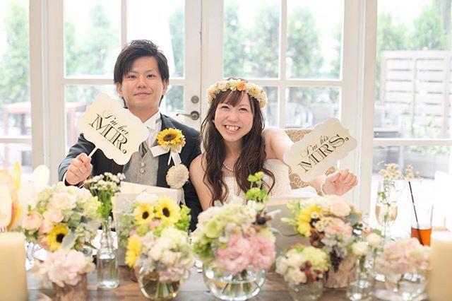 フォトプロップス Mr Mrs Maple Lemon をご使用していただいたお客様のお写真 ありがとうございました Eym In Web Wedding ウエディング テーブル 結婚式 テーブル フォトプロップス