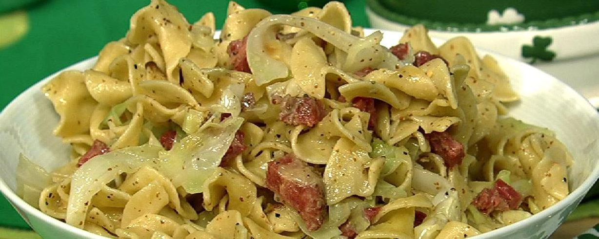 Corned Beef And Noodles With Cabbage Recipe The Chew Abc Com Corned Beef Recipes Beef And