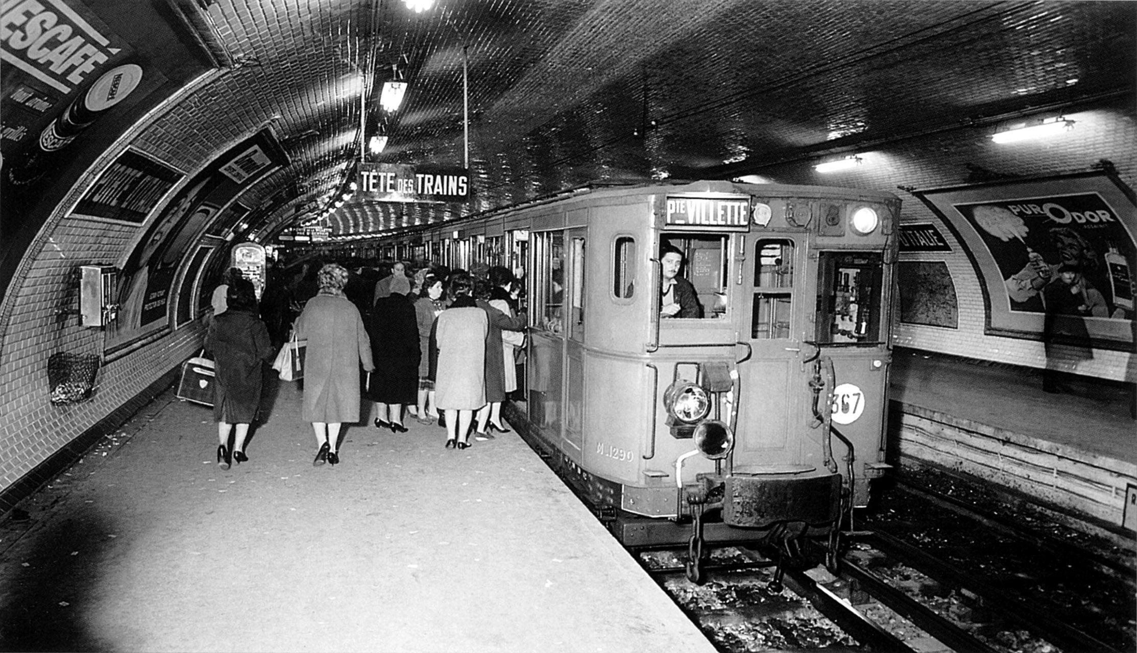 Metro de Paris Ligne 7 Porte d Italie. 1930 Metro paris