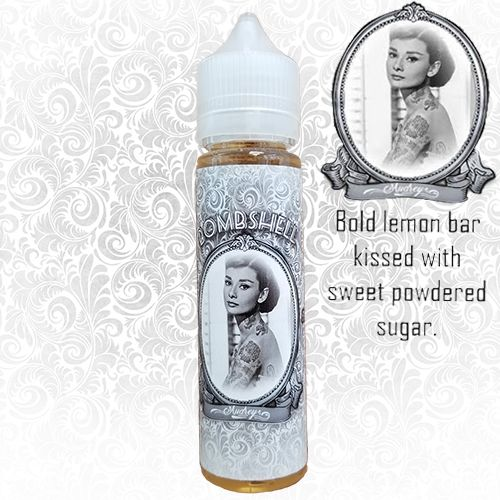 Audrey Is a Delicious Bold Lemon Bar Kissed With Sweet Powdered Sugar. Try This Amazing Bakery Ejuice.