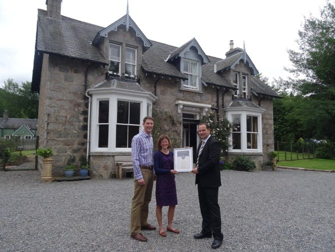 Callater Lodge In Braemar Awarded Gold Status From Visitscotland