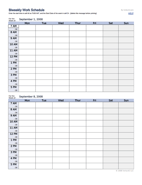 Get The Biweekly Work Schedule Template For Google Sheets Schedule Template Work Schedule Schedule Templates