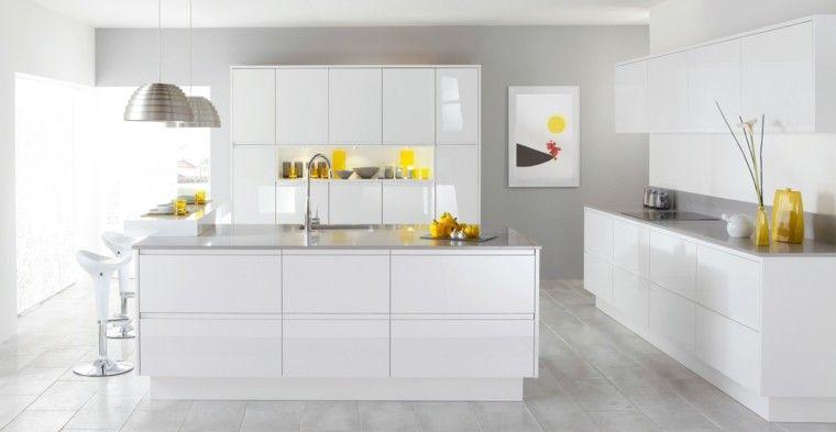 Diseno Cocinas Blancas Y Modernidad En 50 Ideas Decoracion De