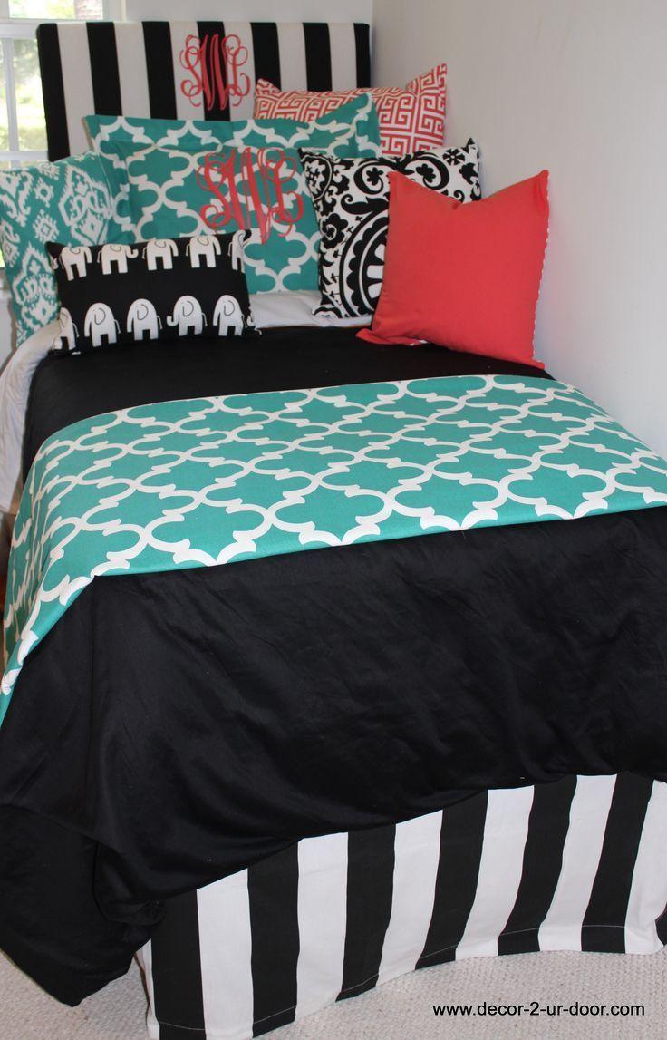 Design Your Own Dorm Room: Custom Monogrammed Dorm Bedding