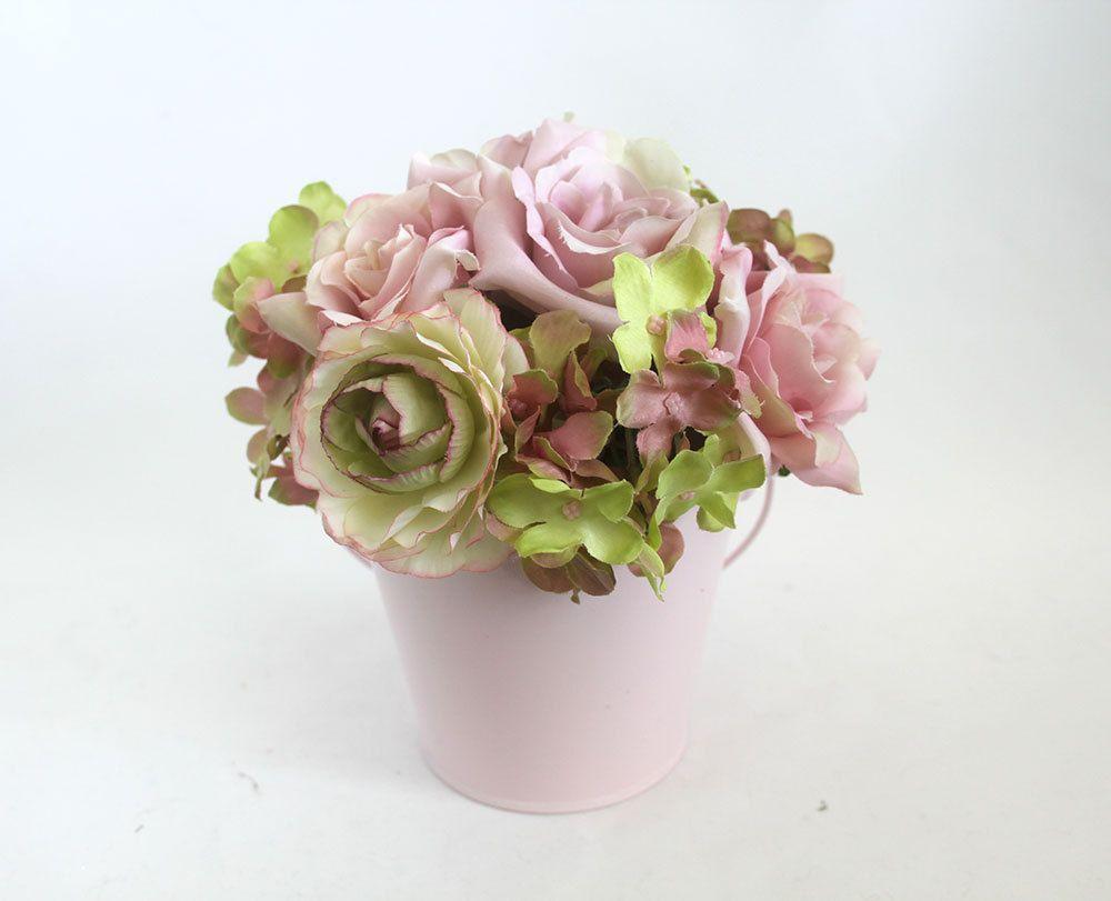 Pink Rose Arrangement Spring Table Centerpiece Home Decor Spring