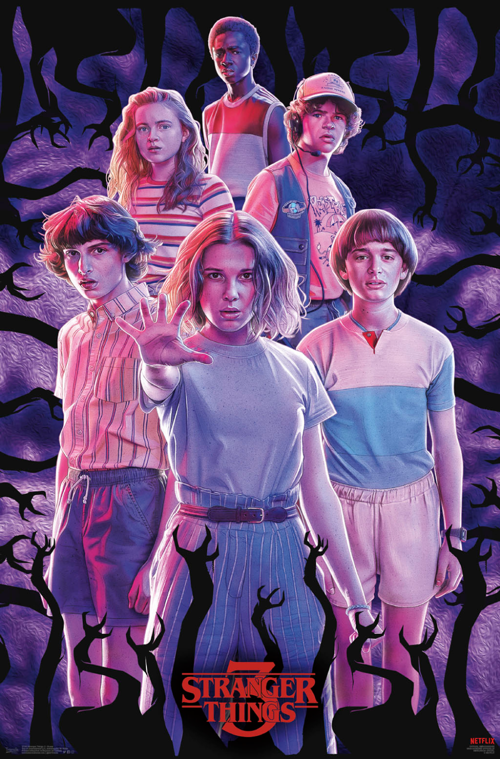 Stranger Things 3 - Group Poster Size: 22.375 inch x 34 inch, Multicolor
