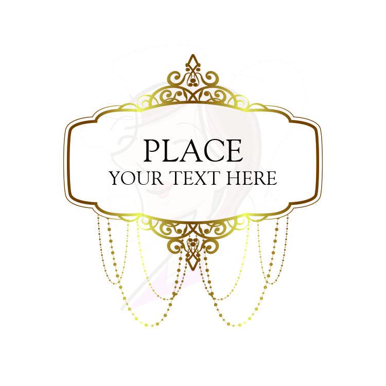 gold vintage chandelier frames clip art heritage ornate