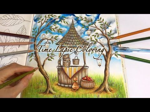 Time Lapse Coloring Make A Wish Romantic Country Coloring Book Youtube Romantic Country Love Coloring Pages Gardens Coloring Book